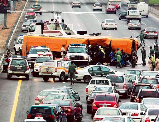 road accidents in Dubai