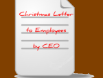 Christmas Letter to Employees by CEO