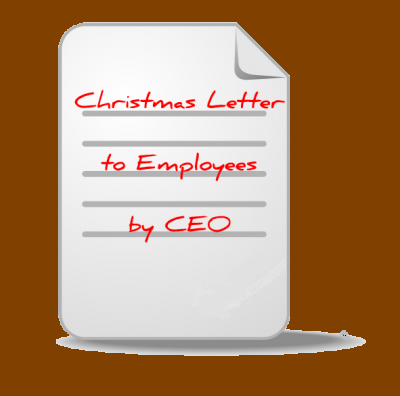 or she is about the employees, by sending a Christmas greeting letter