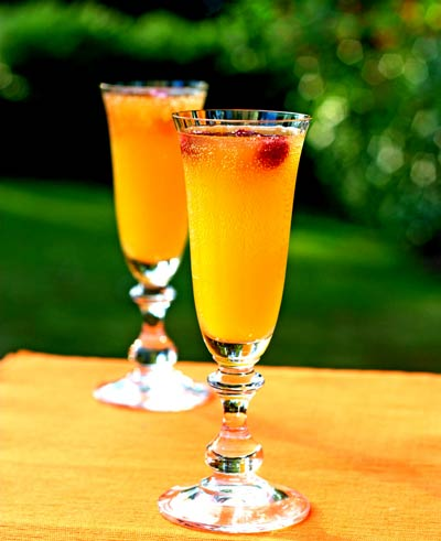 Mango peach cocktail recipe