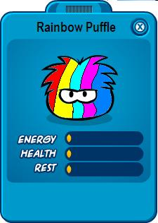 Rainbow Puffle in Clubpenguin