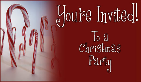 Christmas invitation to relatives