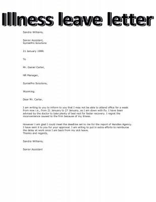 12+ Medical Leave Letters