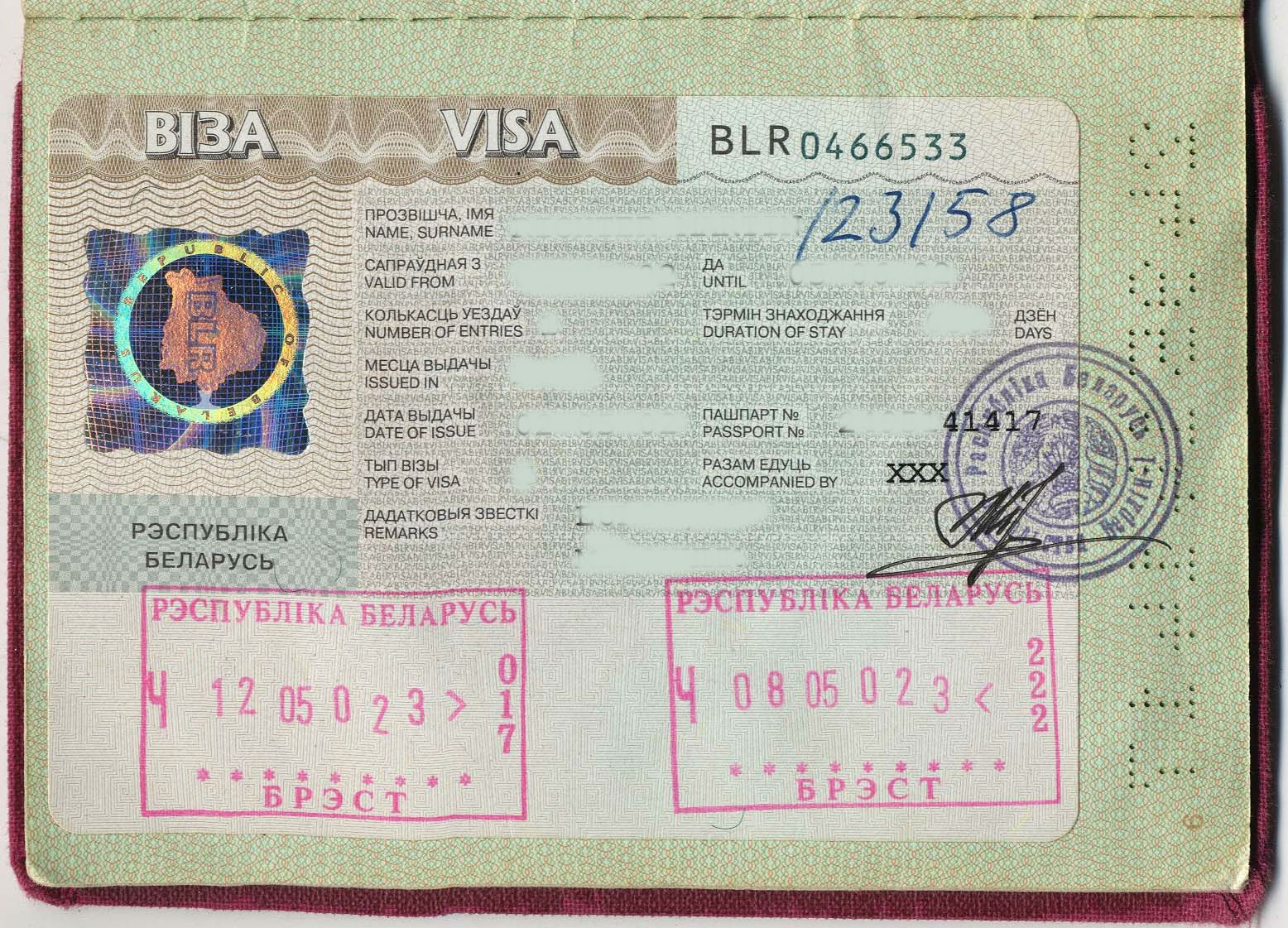 Belarus visa
