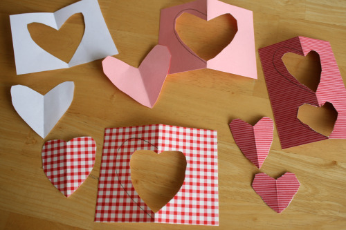 Cutting Hearts for Valentine's Cards