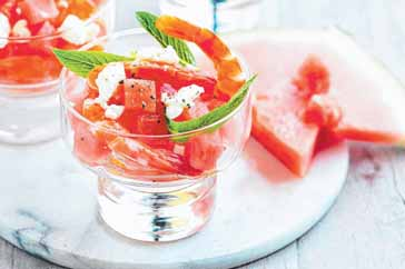 Fetta Prawn Cocktail Recipe with Watermelon