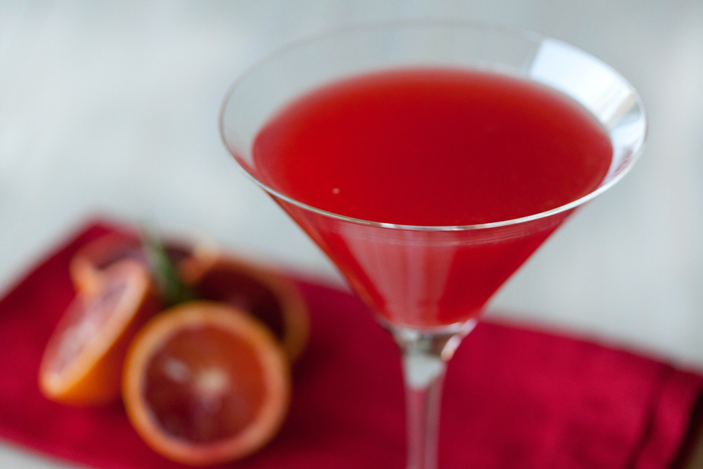 Blood orange cocktail recipe for Cocktail 1789