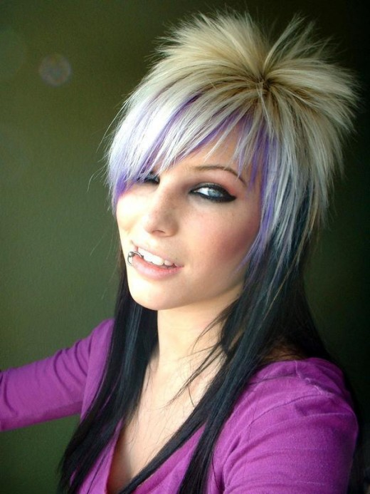 Medium Length Emo Hairstyle for Girls