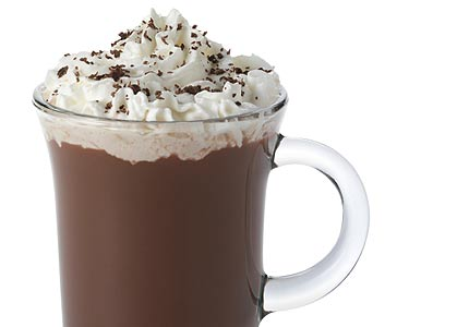 Nutella and Frangelico hot chocolate with cream