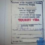Zambia Tourist visit visa