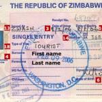 Zimbabwe Tourist Visa  from London