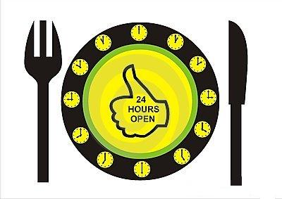 24 hours open restaurants