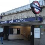 Aldgate East Tube Station London