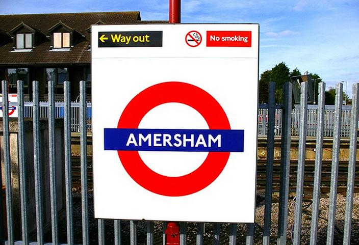 Amersham Station in London