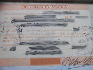 Angola Tourist Visit Visa From Ottawa