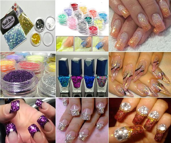 How To Apply Glitter In Nail Art