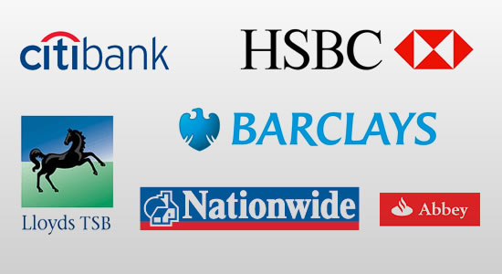 UK bank Logos