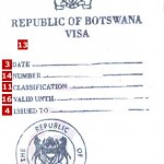 Botswana Tourist Visit Visa from London