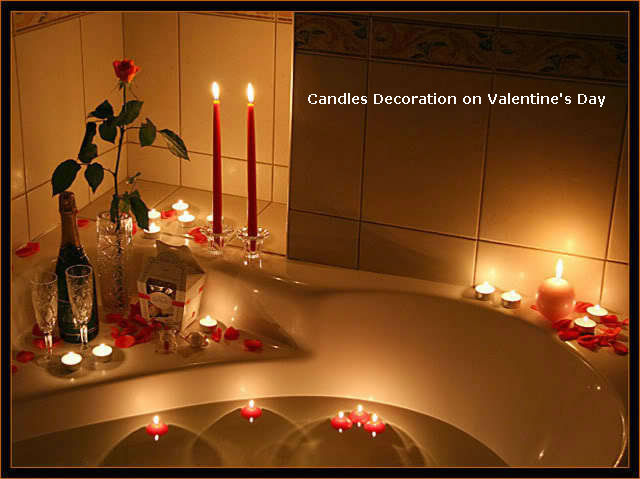 Candles Decoration on Valentine's Day