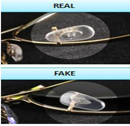 fake ray ban aviator sunglasses  9. check the holding of ray ban aviator's nosepad