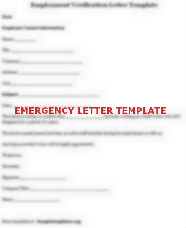 Emergency Leave Letters 9 For Of Leave Letter To The Manager