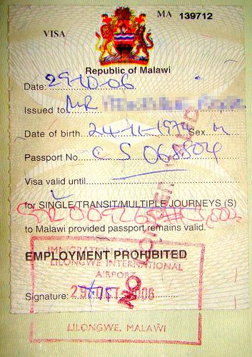 Get Malawi Tourist Visa from London
