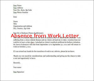 Leave Of Absence From Work Letter