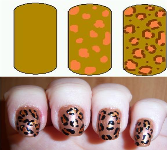 Leopard Print Nail Art Designs