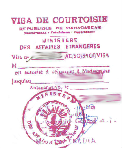 Madagascar Visit Visa from Paris