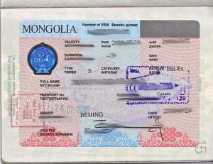 Mongolia Tourist Visit Visa from Ottawa