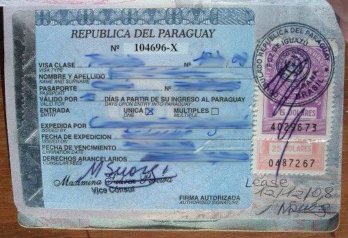 Paraguay Visa