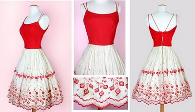 Red & White Dress for Valentines day