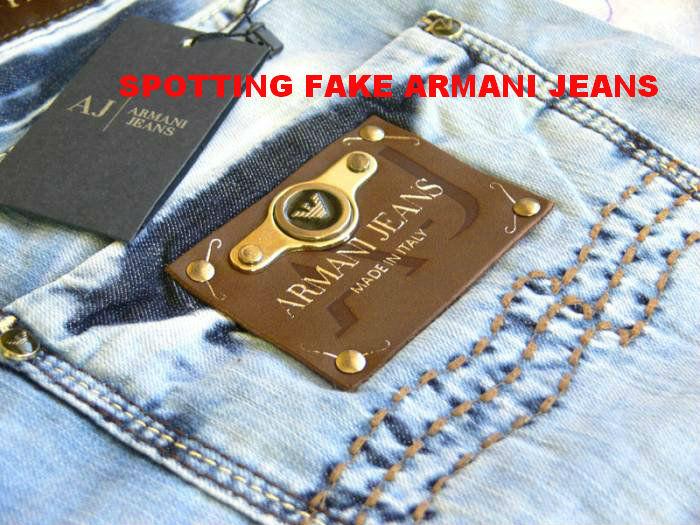 spot fake armani jeans