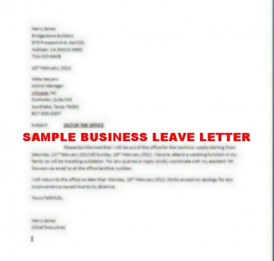 Request for leave sample letter of leave 4 leave application email 9 letter of leave request janitor resume 9 application letter for spiritdancerdesigns Image collections