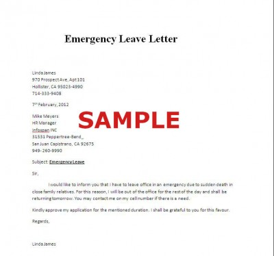 Leave Letter For Work Sample Hashdoc Upcoming Leave Notification