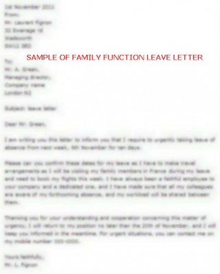 example of vacation leave letter