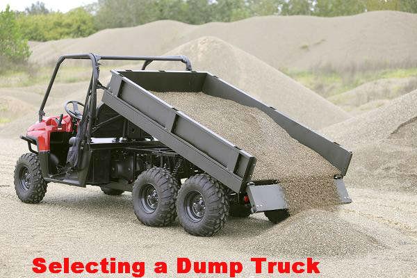 Selecting a Dump Truck