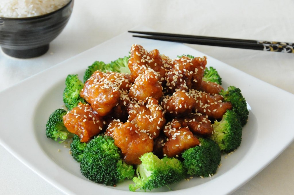 ... sesame chicken with cabbage and red grapefruit sauce asian sesame