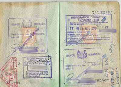 Singapore Tourist Visit Visa from Paris