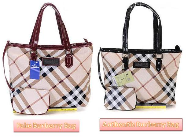 Spot Fake Burberry Bags