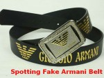 Spotting Fake Armani Belt