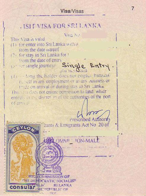 Sri Lanka Visit Visa from Paris