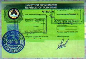 Tajikistan Tourist Visit Visa from Ottawa