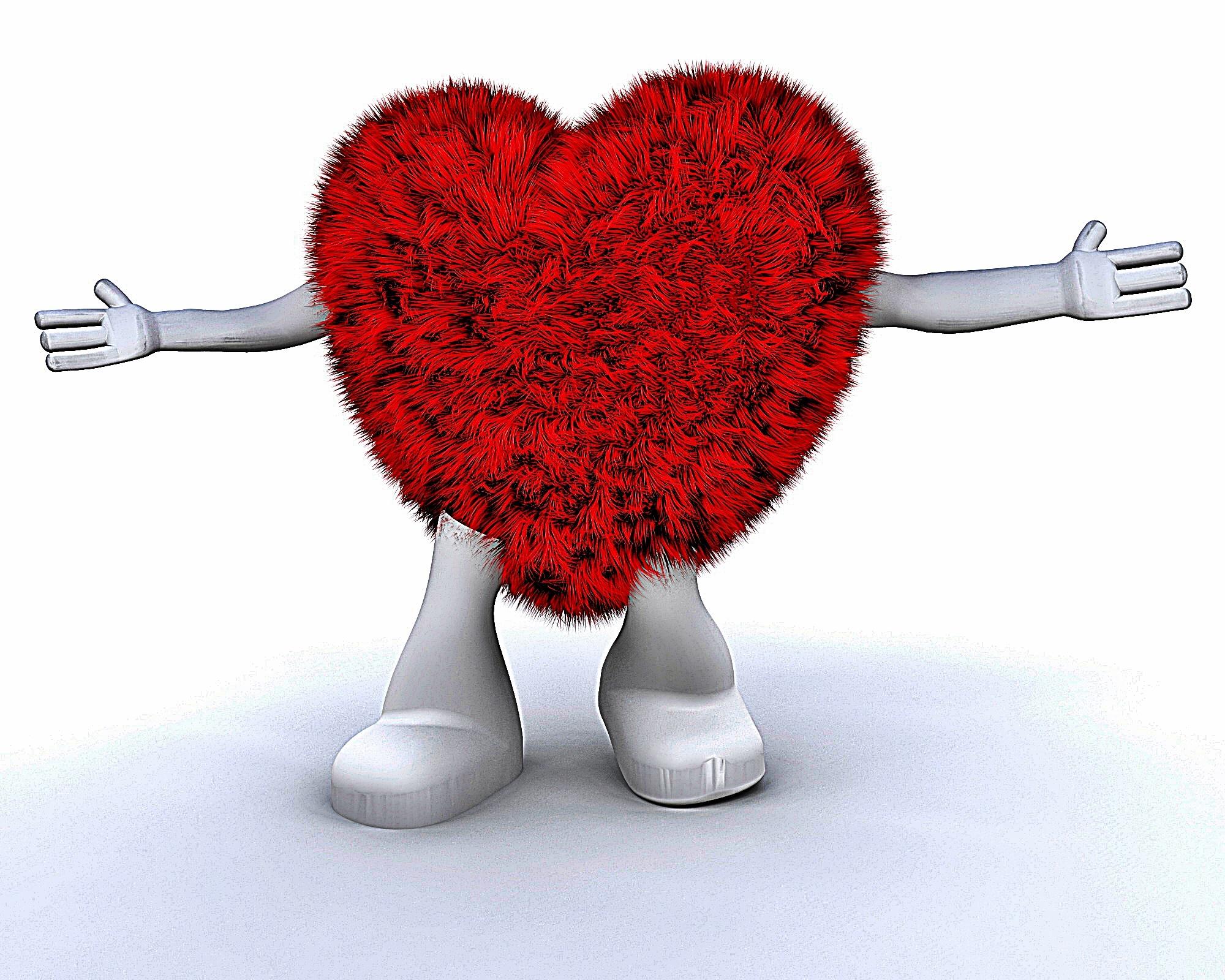 Furry heart dude