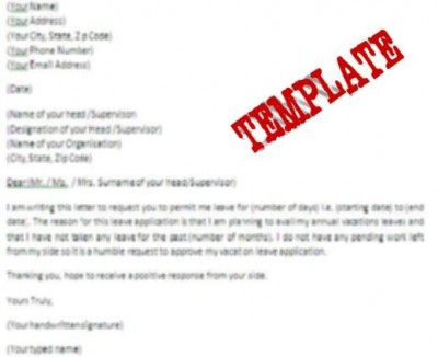Leave Request Letter For Vacation. Sample Letter For Vacation ...