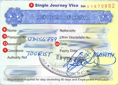 Kenya Tourist Visit Visa Requirements in Dubai
