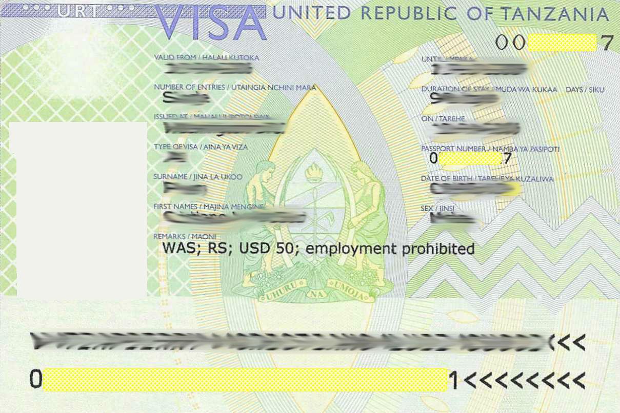 Tanzania Tourist Visit Visa Requirements in Dubai