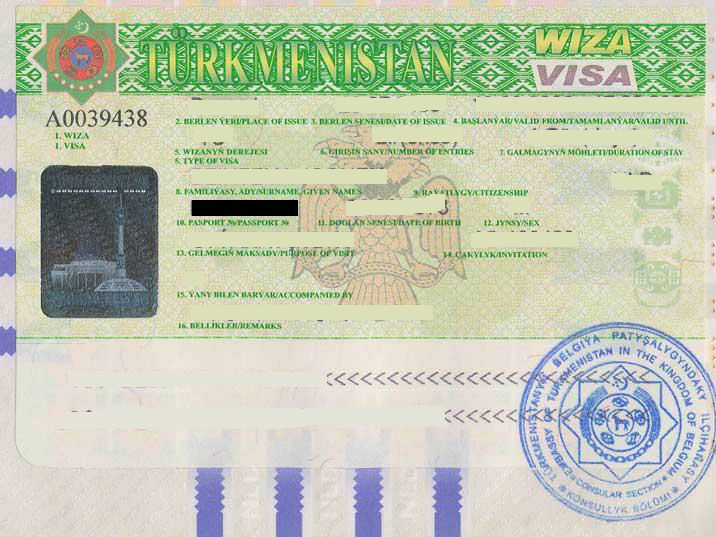 Turkmenistan Tourist Visit Visa Requirements in Dubai
