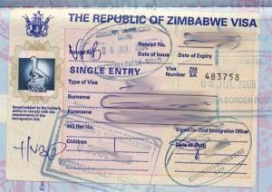 Zimbabwe Tourist Visit Visa from Ottawa