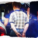 child being arrested